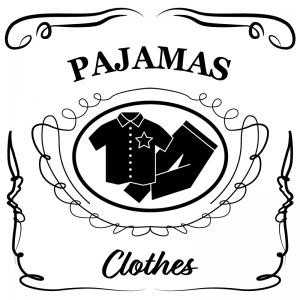 パジャマ(白)jackdaniels_整理整頓収納ラベル