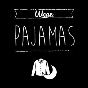 パジャマ(黒)simple-vintage_整理整頓収納ラベル