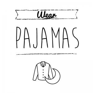 パジャマ(白)simple-vintage_整理整頓収納ラベル