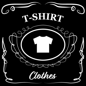 Tシャツ(黒)jackdaniels_整理整頓収納ラベル
