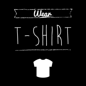 Tシャツ(黒)simple-vintage_整理整頓収納ラベル