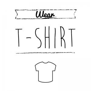 Tシャツ(白)simple-vintage_整理整頓収納ラベル