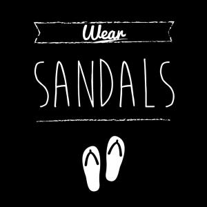 サンダル(黒)simple-vintage_整理整頓収納ラベル