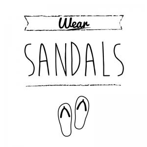 サンダル(白)simple-vintage_整理整頓収納ラベル