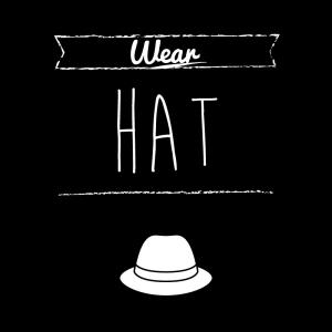 帽子(黒)simple-vintage_整理整頓収納ラベル