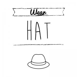 帽子(白)simple-vintage_整理整頓収納ラベル