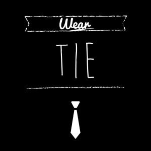 ネクタイ(黒)simple-vintage_整理整頓収納ラベル