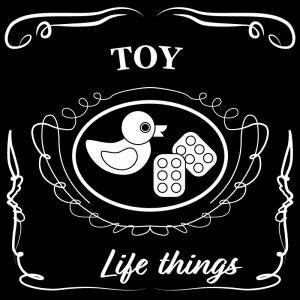 おもちゃ(黒)jackdaniels_整理整頓収納ラベル