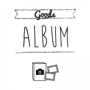 アルバム(白)simple-vintage_整理整頓収納ラベル