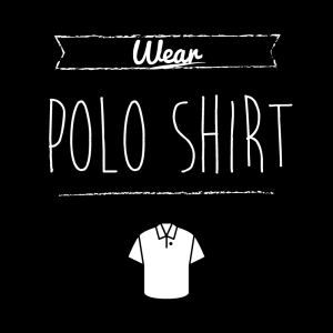 ポロシャツ(黒)simple-vintage_整理整頓収納ラベル