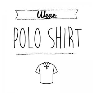 ポロシャツ(白)simple-vintage_整理整頓収納ラベル