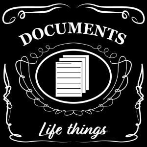 書類・資料(黒)jackdaniels_整理整頓収納ラベル