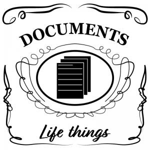 書類・資料(白)jackdaniels_整理整頓収納ラベル