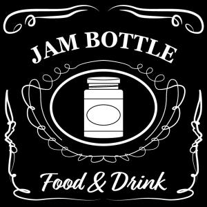 ジャム瓶(黒)jackdaniels_整理整頓収納ラベル