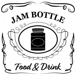 ジャム瓶(白)jackdaniels_整理整頓収納ラベル