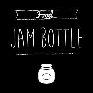 ジャム瓶(黒)simple-vintage_整理整頓収納ラベル
