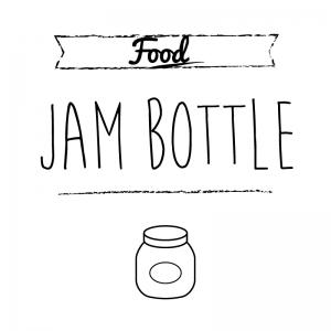 ジャム瓶(白)simple-vintage_整理整頓収納ラベル
