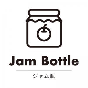 ジャム瓶(白)urban-casual_整理整頓収納ラベル