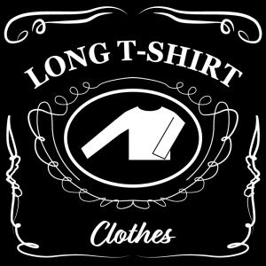 ロングTシャツ(黒)jackdaniels_整理整頓収納ラベル
