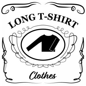 ロングTシャツ(白)jackdaniels_整理整頓収納ラベル