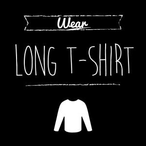 ロングTシャツ(黒)simple-vintage_整理整頓収納ラベル