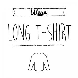 ロングTシャツ(白)simple-vintage_整理整頓収納ラベル