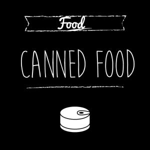 缶詰(黒)simple-vintage_整理整頓収納ラベル