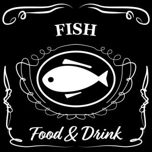 魚(黒)jackdaniels_整理整頓収納ラベル