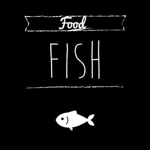 魚(黒)simple-vintage_整理整頓収納ラベル