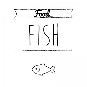 魚(白)simple-vintage_整理整頓収納ラベル