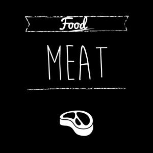 肉(黒)simple-vintage_整理整頓収納ラベル