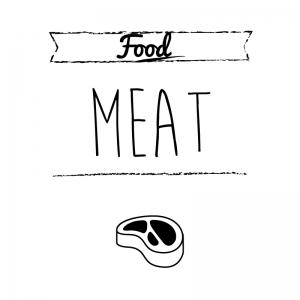 肉(白)simple-vintage_整理整頓収納ラベル