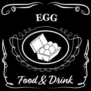 卵(黒)jackdaniels_整理整頓収納ラベル