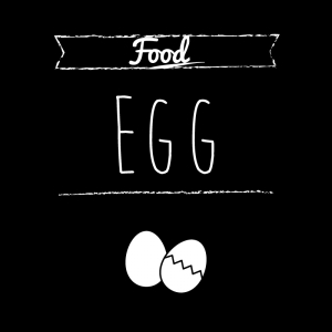 卵(黒)simple-vintage_整理整頓収納ラベル