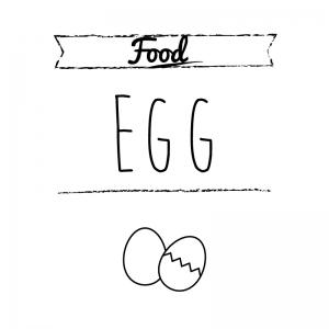 卵(白)simple-vintage_整理整頓収納ラベル