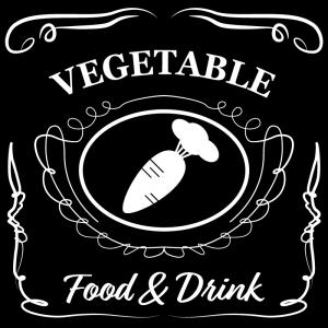 野菜(黒)jackdaniels_整理整頓収納ラベル
