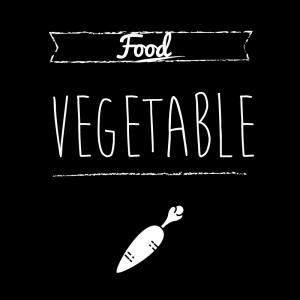 野菜(黒)simple-vintage_整理整頓収納ラベル