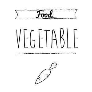 野菜(白)simple-vintage_整理整頓収納ラベル