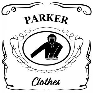 パーカー(白)jackdaniels_整理整頓収納ラベル