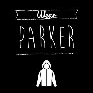 パーカー(黒)simple-vintage_整理整頓収納ラベル
