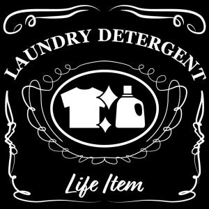 洗濯用洗剤(黒)jackdaniels_整理整頓収納ラベル