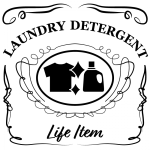 洗濯用洗剤(白)jackdaniels_整理整頓収納ラベル