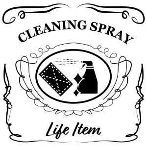 清掃用スプレー(白)jackdaniels_整理整頓収納ラベル