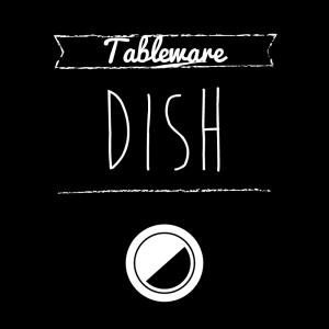 お皿(黒)simple-vintage_整理整頓収納ラベル