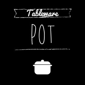 お鍋(黒)simple-vintage_整理整頓収納ラベル
