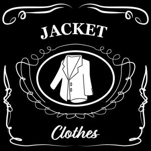 ジャケット(黒)jackdaniels_整理整頓収納ラベル