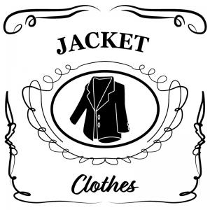 ジャケット(白)jackdaniels_整理整頓収納ラベル