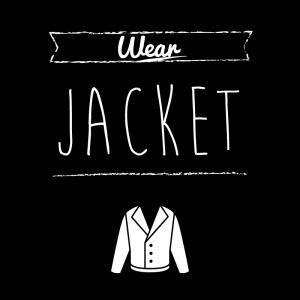 ジャケット(黒)simple-vintage_整理整頓収納ラベル