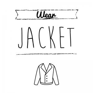 ジャケット(白)simple-vintage_整理整頓収納ラベル