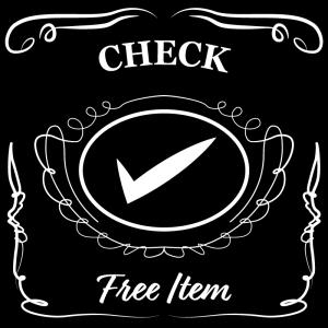 チェックマーク(黒)jackdaniels_整理整頓収納ラベル